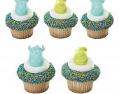 24 Monsters University Cupcake Ring - Party Favors / Decorations - MIke & Sully