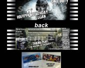 Call of Duty Ghosts Set of 12 Goodie Bag Toppers - Style 1