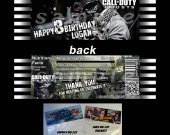 Call of Duty Ghosts Set of 12 Goodie Bag Toppers - Style 2