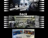 Call of Duty Ghosts Set of 12 Goodie Bag Toppers - Style 3