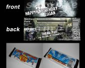 Call of Duty Ghosts Set of 12 Personalized Candy Bar Wrappers Party Favors - Style 1