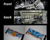 Call of Duty Ghosts Set of 12 Personalized Candy Bar Wrappers Party Favors - Style 2
