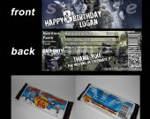 Call of Duty Ghosts Set of 12 Personalized Candy Bar Wrappers Party Favors - Style 4