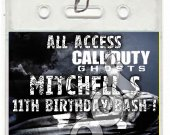 Call of Duty Ghosts Set of 12 VIP Party Invitation Passes or Party Favors - Style 1