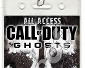 Call of Duty Ghosts Set of 12 VIP Party Invitation Passes or Party Favors - Style 5