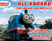 Thomas the Train Personalized 4x6 Birthday Party Invitations - Style 2