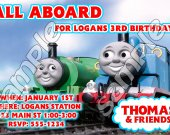 Thomas the Train Personalized 4x6 Birthday Party Invitations - Style 3