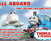 Thomas the Train Personalized 4x6 Birthday Party Invitations - Style 4