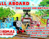 Thomas the Train Personalized 4x6 Birthday Party Invitations - Style 6