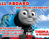 Thomas the Train Personalized 4x6 Birthday Party Invitations - Style 7