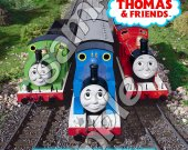 Thomas the Train Personalized 4x6 Birthday Party Invitations - Style 9