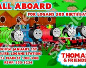 Thomas the Train Personalized 4x6 Birthday Party Invitations - Style 10