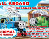 Thomas the Train Personalized 4x6 Birthday Party Invitations - Style 11