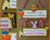 Winnie the Pooh Hunny Pot handmade Custom Personalized  Welcome sign