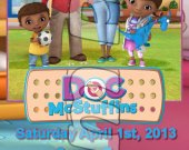 Doc McStuffins Ticket Style Personalized Party Invitations