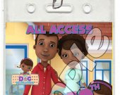 Doc McStuffins Set of 12 VIP Party Invitation Passes or Party Favors - Style 1