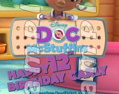 Doc McStuffins Personalized 4x6 Birthday Party Invitations