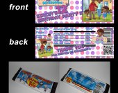 Doc McStuffins Set of 12 Personalized Candy Bar Wrappers Party Favors