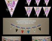 Doc McStuffins 6 Triangle Pennant Banner