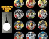 Lego Hero Set of 12 Zipper Pulls - Make Great Party Favors - Set 1
