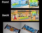 Teen Beach Movie Set of 12 Personalized Candy Bar Wrappers Party Favors - Style 1