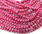 wholesale  crystal like swarovski bead rondelle abacus  faceted matt ruby red assortment jewelry beads 5x8mm--10strands 720pcs
