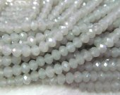 wholesale  crystal like swarovski bead rondelle abacus  faceted matt beige assortment jewelry beads 5x8mm--10strands 720pcs