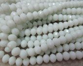 high quality crystal like swarovski bead rondelle abacus  faceted matt cream white assortment jewelry beads 5x8mm--10strands 720pcs