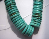 16mm 2strands  turquoise stone  heishi   green jewelry  beads