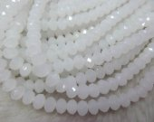 high quality crystal like swarovski bead rondelle abacus  faceted matt clear  assortment jewelry beads 5x8mm--10strands 720pcs