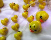 unique 25x30mm 2strands  resin/plastic/acrylic gergous charm bead animal  duck handmade focal