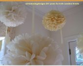 "Massive Large Tissue Paper Pom, 30"" diameter, paper pom, kissing ball, pomander, high ceilings, tents, batmitzvahs"