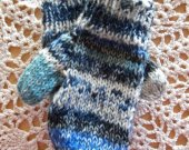 Hand Knitted Wool Blend Mittens 6 to 12 mo