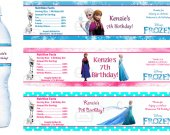 Frozen Water Bottle Labels - PRINTED FOR YOU - Birthday Party Supplies Favors Baby Shower