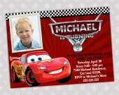 Disney CARS 2 Lightning McQueen cars Birthday Party Invitation - Digital File