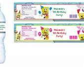 Spongebob Squarepants Water Bottle Labels - PRINTED FOR YOU - Birthday Party Supplies Favors