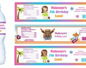 Luau Water Bottle Labels - PRINTED FOR YOU - Birthday Party Supplies Favors