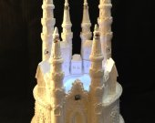 Wedding quinceanera   sweet 16 cinderella castle  light cake topper in  white    and any color