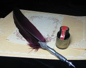 Aristocracy LL-31 Caligraphy Tool Carved Feather hand crafted Art Quill Pen Set