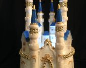 Wedding quinceanera  sweet 16 cinderella castle light cake topper in  blue    and any color