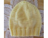 Yellow Newborn to 3 mo. Beanie Hat