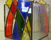 Stained Glass Candle Box - Contemporary