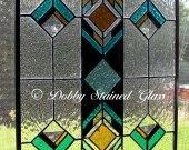 Stained Glass Panel - Southwestern