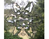 Beveled Glass & Wire Snow Flake I