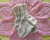 Tan Wool Socks for Baby