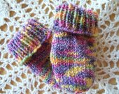 Colorful Newborn Mittens No Thumbs