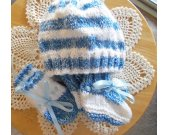 Hat Set Newborn Blue and White