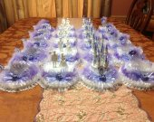 20 .pc. Cinderella castle carriage  slipper and wedding couples  centerpieces  lighted in lavende and any color