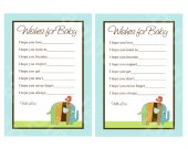 "Printable ""Zutana Striped Elephant"" Wishes for Baby Cards Instant Digital Download"