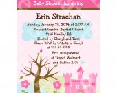 Princess/Castle/Dreams Come True  Digital Baby Shower Invitation 5x7 U Print yourself